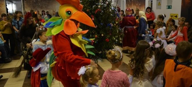 Новогодний праздник в селе Воробьевка